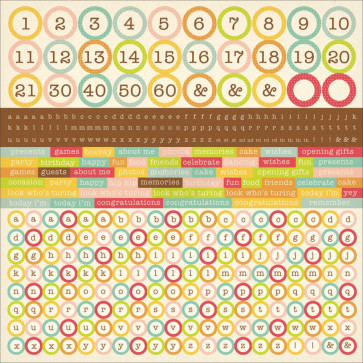 "KaiserCraft Save The Date Cardstock Stickers 12x12"" Alphas"