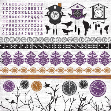 """KaiserCraft 13th Hour Cardstock Stickers 12x12"""""""