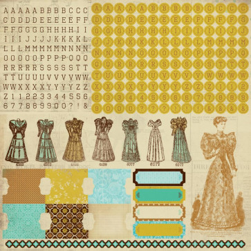 "KaiserCraft Madam Boutique Cardstock Stickers 12x12"" Alphas"