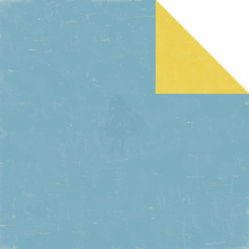 "Echo Park Bundle Of Joy/A New Addition Dobbeltsidet Cardstock 12x12"" - Blue/Yellow"