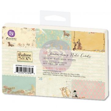 "Prima Marketing Bedtime Story Journaling Notecards 4x6"" TASTER"