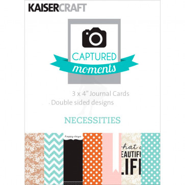 "KaiserCraft Captured Moments Double-Sided Cards 3x4"" - Necessities TASTER"