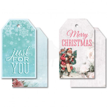 "KaiserCraft Silver Bells Tags W/String 2x3.25"" 2 Double-Sided Designs"