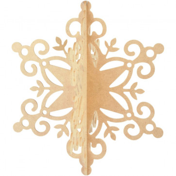 Kaisercraft Beyond The Page MDF Hanging Snowflake Ornament 11x9.5x9.5""