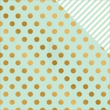"""My Minds Eye On Trend 2 Double-Sided Foiled Cardstock 12x12"""" - Minted"""