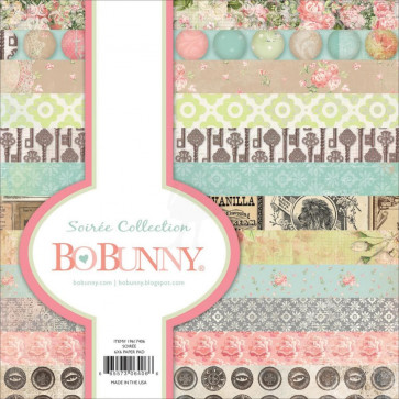 "BoBunny Single-Sided Paper Pad 6x6"" - Soiree TASTER"