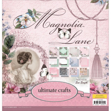 "Ultimate Crafts Double-Sided Paper Pad 12x12"" 24/Pkg - Magnolia Lane"