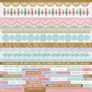 KaiserCraft Christmas Wishes Cardstock Stickers 12x12""