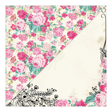 """Authentique Beloved Double-Sided Cardstock 12x12"""" #5 Floral/Floral Border"""