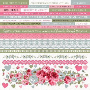 KaiserCraft High Tea Cardstock Stickers 12x12""