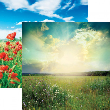 "Reminisce Photo Shoot Double-Sided Cardstock 12x12"" - Meadow Landscape"