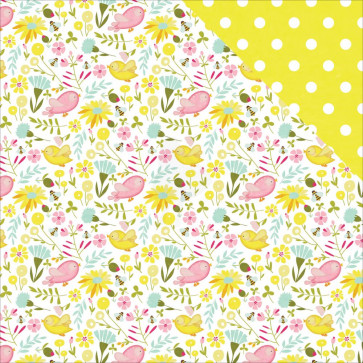 """Photo Play Paper Bloom Double-Sided Cardstock 12x12"""" Birds & Bees"""