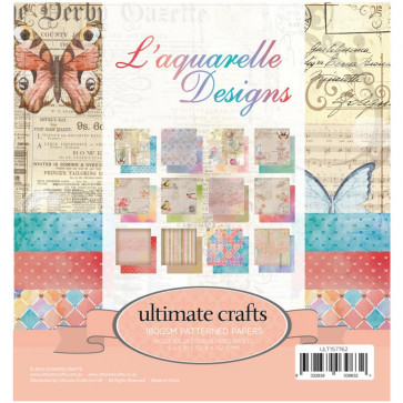 "Ultimate Crafts Double-Sided Paper Pad 6x6"" 24/Pkg - L'Aquarelle"