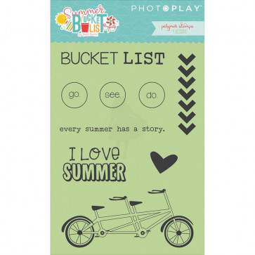 Photoplay Paper Summer Bucket List Polymer Stamps Icons