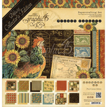 "Graphic 45 Deluxe Collector's Edition Pack 12x12"" - French Country"
