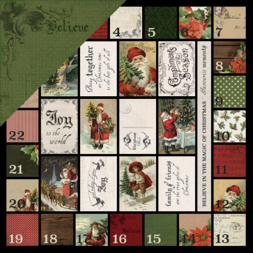 """KaiserCraft Letters To Santa Double-Sided Cardstock 12x12"""" Believe In The Magic"""