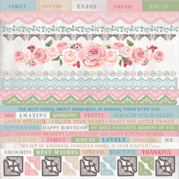 KaiserCraft Rose Avenue Cardstock Stickers 12x12""