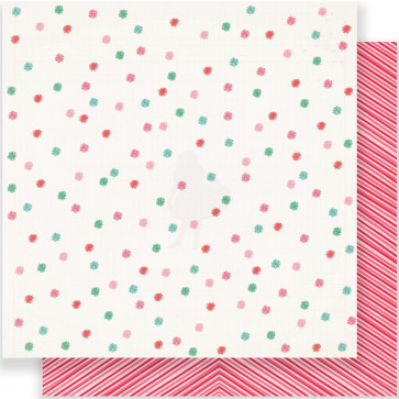 """Crate Paper Fa La La Double-Sided Cardstock 12x12"""" - Very Merry"""