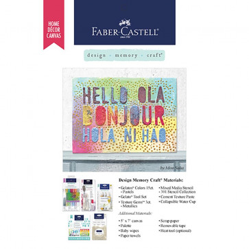 "Gratis Leaflet Faber Castell 5x7"" Home Decor Canvas - Bon Jour"