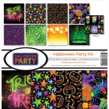 """Reminisce Collection Kit 12x12"""" - Halloween Party Kit"""