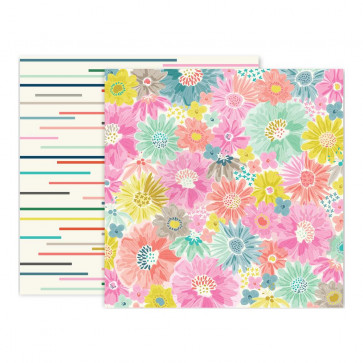 """Pink Paislee Paige Evans Oh My Heart Double-Sided Cardstock 12x12"""" #2"""