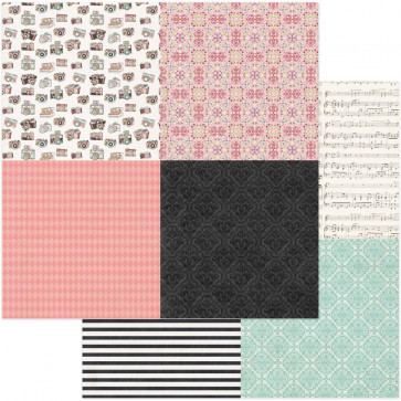 """Vintage Girl Double-Sided Cardstock 12x12"""" Tiny Prints Quad 1"""