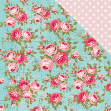 """KaiserCraft Miss Betty Double-Sided Cardstock 12x12"""" Stitched"""