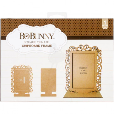 BoBunny Essentials Laser-Cut Chipboard Frame Square Ornate