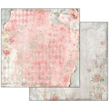 """Stamperia Double-Sided Cardstock 12x12"""" Dream Texture With Rose"""