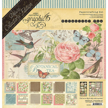 "Graphic 45 Deluxe Collector's Edition Pack 12x12"" Botanical Tea"