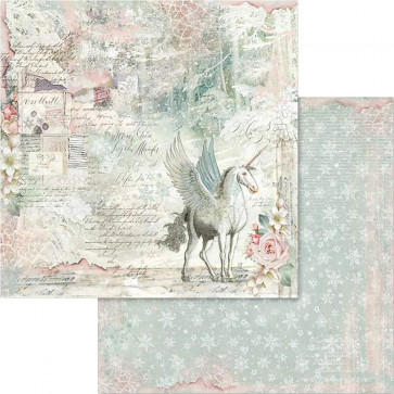 "Stamperia Double-Sided Cardstock 12x12"" Unicorn Fantasy"