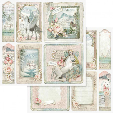 """Stamperia Double-Sided Cardstock 12x12"""" Unicorn Card"""