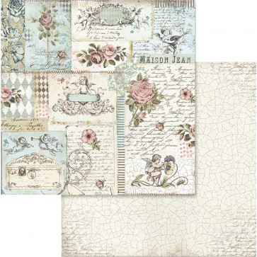"Stamperia Double-Sided Cardstock 12x12"" Rose & Angels"