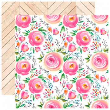 """Webster's Pages Changing Colors Double-Sided Cardstock 12x12"""" Bouquet Branch"""
