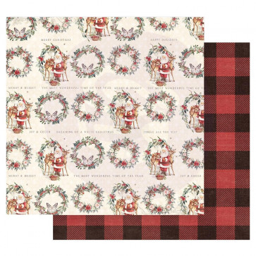 """Prima Marketing Christmas In The Country Double-Sided Cardstock 12x12"""" Most Wonderful Time Of The Year"""