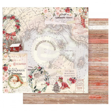 """Prima Marketing Christmas In The Country Double-Sided Cardstock 12x12"""" Northern Regions"""
