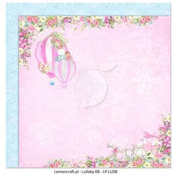 """LemonCraft Double Sided 12x12"""" Scrapbooking Paper - Lullaby 08"""