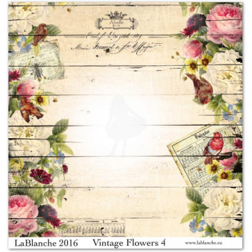 "LaBlanche Papers ""Vintage Flowers"" 04 Dobbeltsidet 12x12"""