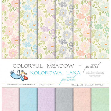 "Galeria Papieru Colorful Meadow Pastel 12x12"" Paper Pad"