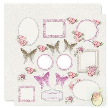 "LemonCraft 12x12"" Scrapbooking Cardstock - Just Love Me 06"