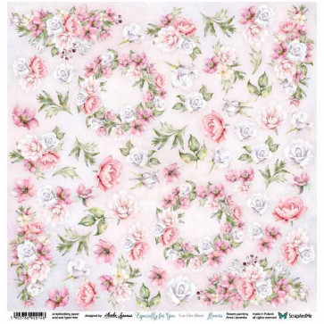 """ScrapAndMe Paper Ark 12x12"""" Especially For You Flowers Cut Out Sheet"""