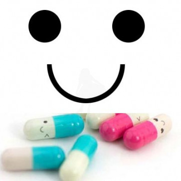 Message In a Pill Smile - Mørk Grøn