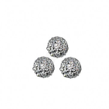 6mm 3D Nail Art Half Round Ball Rhinestone Bling 5 stk