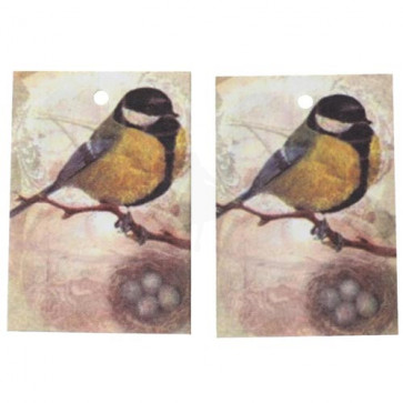 Paper Label Tags - Bird Pattern