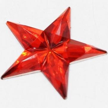 Acrylic Big Size Star 31mm - Red