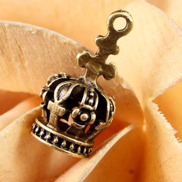 Beyond Visions Metal Pynt Charms - 3D Krone