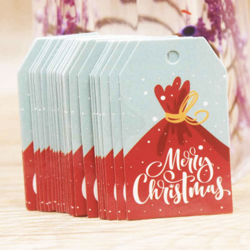 Beyond Visions Paper Label Tags - Merry Christmas Gavesæk