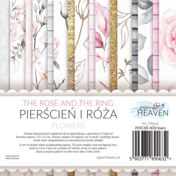"""Galeria Papieru 6x6"""" Scrapbooking Paper Pad The Rose And The Ring Flowers"""