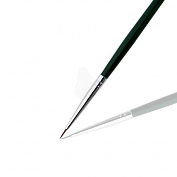 Art Brush nr 0 - Metallic Green Skaft