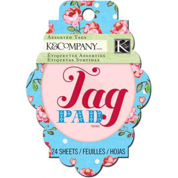 K&Company Bloomscape Tag Pad TASTER